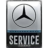 Nostalgic-Art Cartel de Chapa Retro Mercedes-Benz – Service – Idea de Regalo para los Fans de los Coches, metálico, Diseño Vintage, 30 x 40 cm