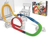 Smoby- FleXtreme-Set Découverte Voiture-184 Pistes Flexibles et Modulables + 1 Véhicule Inclus Circuito Auto, Multicolore, 7/180902
