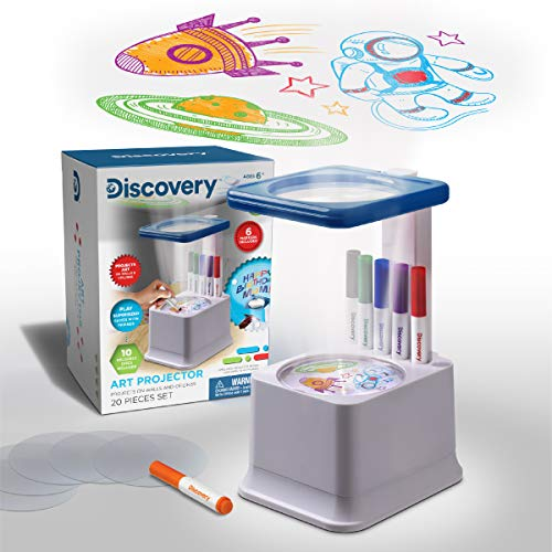 Discovery Kids Art Projector with Six Dry Erase Markers and 10...