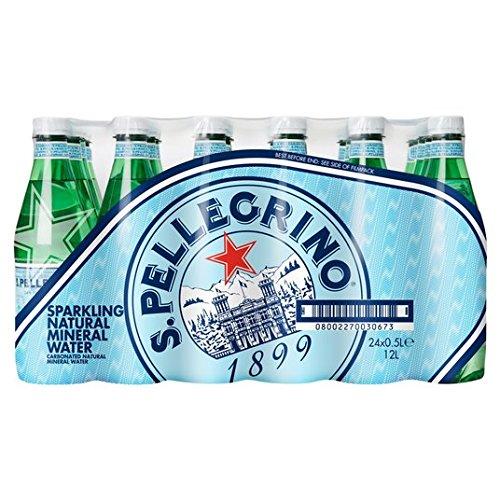 San Pellegrino - Acqua minerale frizzante, 24 x 500 ml