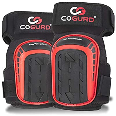 COGURD Professional Gel Knee Pads for Work Construction, Gardening, Cleaning, Flooring and Garage - Heavy Duty Support Kneepads with High Density Foam Padding Cushion and Strong Stretchable Straps from COGURD