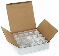 Premium Vials 100-grpot-ZT 100 New, Empty, Clear, 5 Gram Plastic Pot Jars, Cosmetic Containers, with Lids. (Pack of 100)