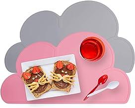 iZiv Silikon Cloud Tischset Kids Baby Infant Tragbare Teller Matte Rutschfeste Platzdeckchen Tisch Matte Farbe-1