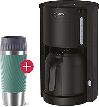 Krups KM3038-2 Filter Kaffemaskin med termokanna Emsa Travel Mug Termosmugg 360 ml grön, kaffeautomat för 10–15 koppar kaf...