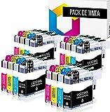 TONERPACK LC223XL Cartuchos de Tinta Compatibles Reemplazo para Brother LC223 LC223 XL para Brother MFC J480DW J4420DW J880W J5320DW J4620DW DCP J4120DW DCP J562DW (Pack 16)