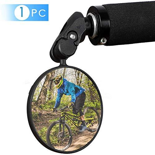 Chizea Fahrradrückspiegel, 360 Grad Drehbar Sicherer Rückspiegel, Weitwinkel Spiegel, Schlagfest, HD Glasspiegel für Mountainbike Rennrad E-Bikes und andere Fahrräder