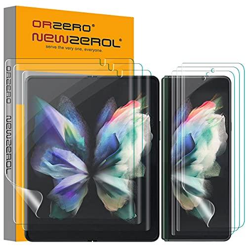NEWZEROL 6 Pieza TPU Protector de Pantalla Compatible con Samsung Galaxy Z Fold 3 5G, Contiene 3 Pieza Protector de Pantalla Interior y 3 Pieza Protector de Pantalla Exterior - Protección Completa