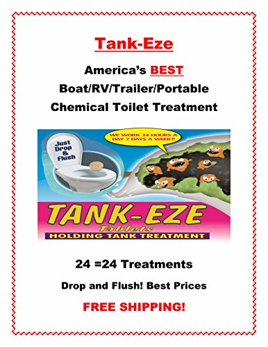 Tank-Eze America's Best Holding Tank Treatment Boat/RV/Trailer/Portable Chemical Camping Toilet-Tanks up to 100 Gallons (24 Tablets)