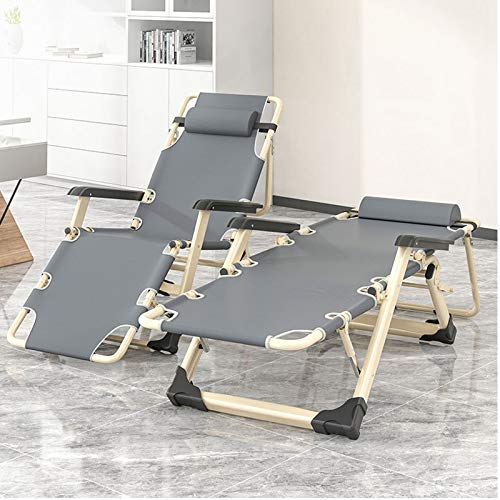 Valink reclinable plegable para apoyar 300 kg, silla de playa con respaldo perezoso casual, jardín, camping, pesca, silla reclinable, ajustable, desmontable