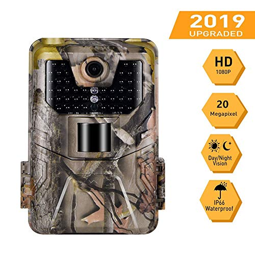 WANGMEILING Jagdkamera wildkamera 20MP 1080P Wildlife Trail-Kamera drahtlose Jagd Kameras HC900A Nachtsicht-Tracking-Nocken-Überwachungs (Color : Light Yellow)