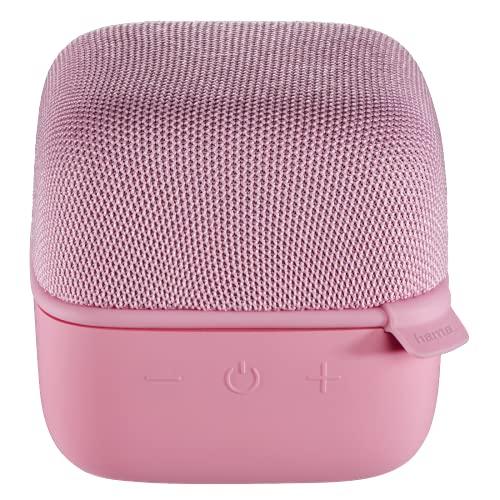 Hama Mobiler Bluetooth-Lautsprecher Cube, Rosa