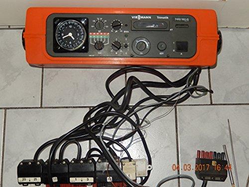 VIESSMANN Trimatik 7410 160-G Heizungsregelgerät mit Analogschaltuhr, Anschlßleiste, 3 Kesselfühler plus Fühler Nr. 3 und alle Kabel,geprüft ist voll funktionsfähig