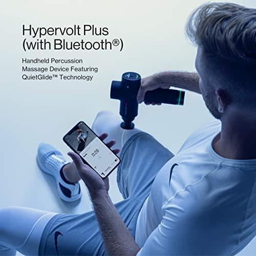 Hypervolt Bluetooth, Featuring Quiet Glide Technology - Handheld Percussion Massage Gun | 3 Speeds, 5 Interchangeable Heads | Helps Relieve Sore Muscles and Stiffness (Hypervolt PRO w/ Bluetooth)