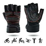 UPGRADE M Premium Sporthandschuhe mit Handgelenkschutz | Atmungsaktiv | rutschfest | für Herren & Damen | mit Handgelenk Bandage | Fitness Handschuhe | Crossfit Handschuhe | Trainingshandschuhe