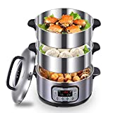 N/P Midea Electric Steamer 3-Layer High Capacity Multi-Function Appointment Timing Stainless Steel...