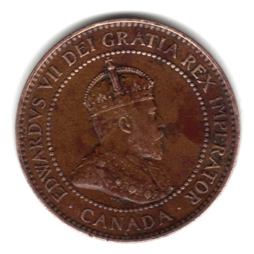 1906 Canada Large Cent Penny Coin KM#8
