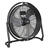 Sealey HVF20S Industrial High Velocity Orbital Drum Fan, 230 V, Black, 20-Inch