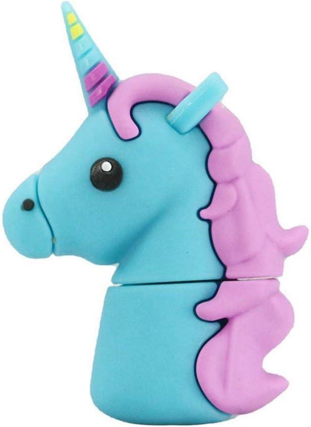 Aneew 16GB 2.0 Pendrive Cartoon Cheap sale Cute Flash Blue Driv Unicorn 2021 autumn and winter new USB