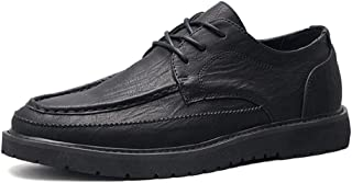 2019 Mens New Lace-up Flats Men's Fashion Oxford Shoes Casual Round Head with Wear-Resistant Outdoor Casual Shoes
