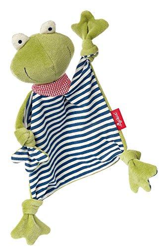 *sigikid, Mädchen und Jungen, Schnuffeltuch Frosch, Natural Love, Grün/Blau, 41352*