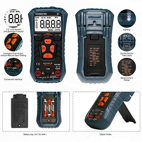 Multímetro Digital, HANMATEK S1 Automático Polimetro Digital, Protección Contra...