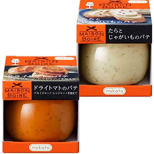 [ワインにぴったり]パテ2種アソート:ドライトマトのパテ パルミジャーノを加えて&たらとじゃがいものパテ(nakatoメゾンボワール)