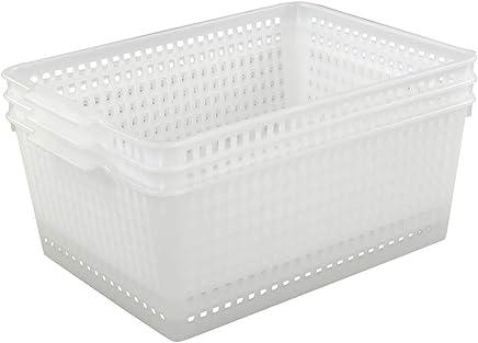 aff2fd153593 Amazon.ca: Clear - Storage Baskets / Baskets & Bins: Home & Kitchen
