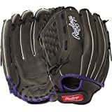 Rawlings Youth Storm 12 Inch Fastpitch Softball Glove Left Hand Throw Black Purple