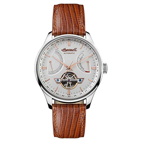 Ingersoll The Hawley Gents Automatic Watch I04605 with a Stainless Steel Case and Genuine Leather Strap