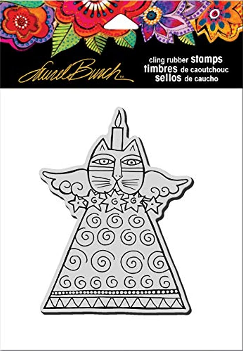 Stampendous Cling Rubber Stamp, Feline Candle