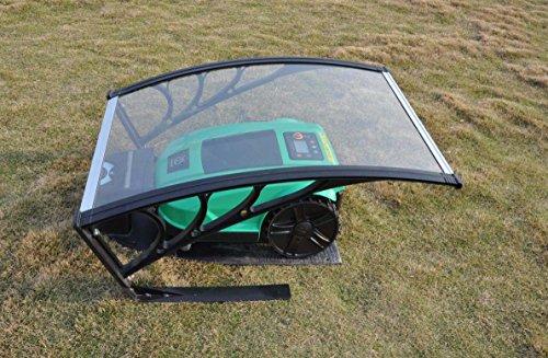 vhbw Polycarbonat Automower Regenschutz Garage - Cover für Rasenmäher - für Rasenroboter Husqvarna Automower