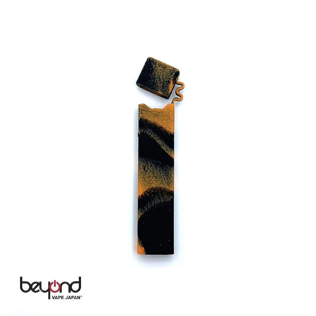 仕様香港対立【BeyondVapeJapan】 最新 電子タバコ VAPE JUUL JUUL用 シリコンケース[マーブルカラー]アクセサリー Black/Orange