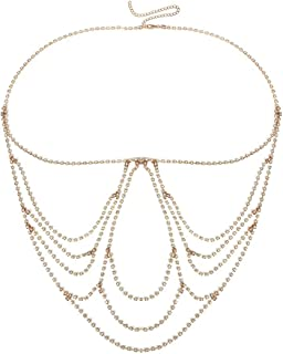 WillowswayW Multi Layers Round Sequins Body Chain Women Beach Bikini Decor Jewelry