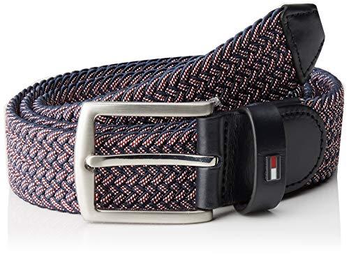 Tommy Hilfiger Denton Two Tone Elastic 3.5 Cinturón, Azul (Corporate Cjm), 85 (Talla del fabricante: 80) para Hombre