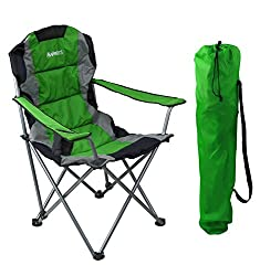"Padded Camping Chair 16"" Seat Height"