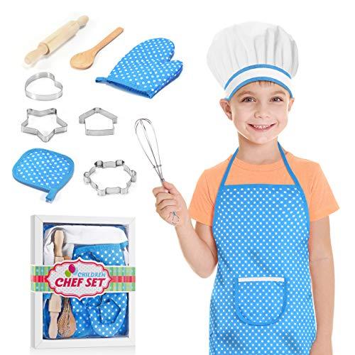 dmazing Delantal de Cocina para Niños Cocinitas de Juguetes - Regalos y Juguetes para Niños