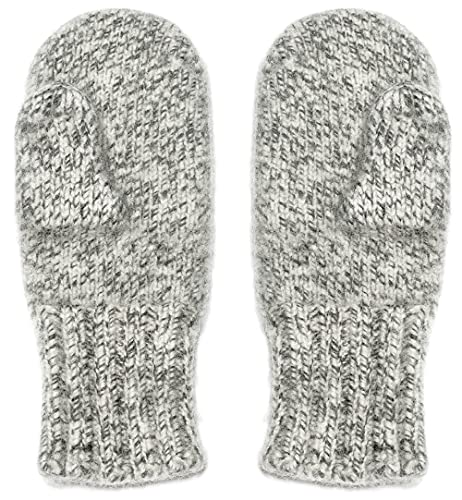 Dachstein Woolwear 4 Ply Extreme Warm 100% Austrian Boiled Wool Alpine Mittens in Natural Grey (7.0)