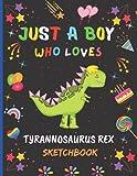 Just A Boy Who Loves Tyrannosaurus Rex Sketchbook: New Adorable Tyrannosaurus Rex Sketchbook Gifts For Boys .Tyrannosaurus Rex Blank Paper Sketch Pad ... and Doodling.Cute Christmas Gift Idea.v.2