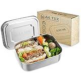 AA TEX Brotdose Edelstahl - 1000 Milliliter, Bento Box Kinder, BPA-frei, 2 Fächer, Spülmaschinenfest, Lunchbox für Kinder and Erwachsene
