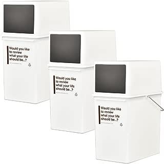 like-it カフェスタイル 浅 フロントオープンダスト CFS-11 全3色の中から選べる3個セット ゴミ箱 ごみ箱 ダストボックス ふた付き おしゃれ ライクイット