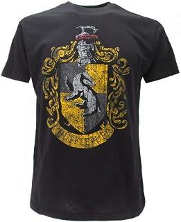 """Camiseta original de Harry Potter de la casa Hufflepuff, con texto en inglés """"Warner Bros"""""""