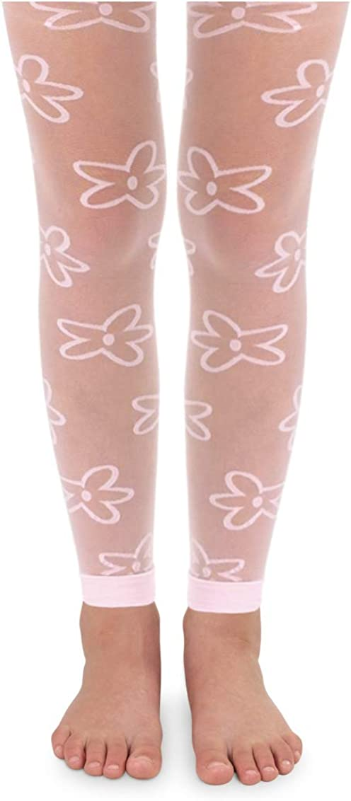 Details about  /Children/'s FOOTLESS Tights-25 Cols Girls Footless Dance Tights-Girls Footless