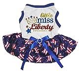 Petitebelle Little Miss Liberty Vestido de tutú para Perro