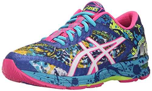 ASICS Women's Gel-Noosa Tri 11 Running Shoe, Asics Blue/White/Hot Pink, 6.5 M US