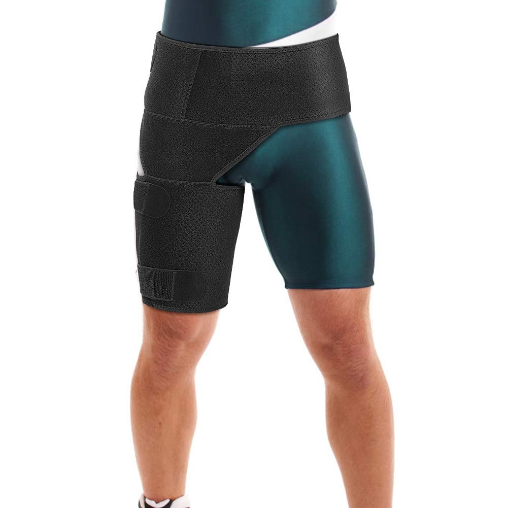 Thigh and Groin Support Max 73% OFF Manufacturer regenerated product Hip Brace with Stra Compression Elastic