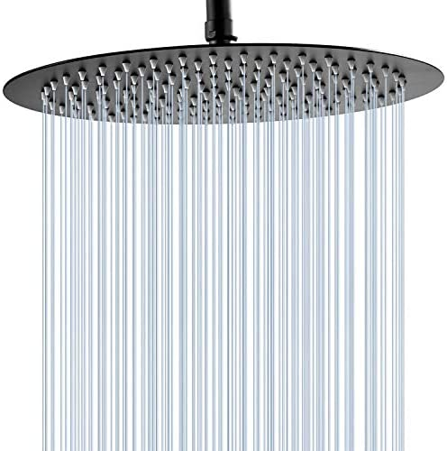 GGStudy 12 Inches Round Rain Shower head Large Stainless Steel High Pressure Shower Head Ultra product image