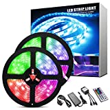 ShinePick LED Strip Lights 10m, Waterproof 300 LEDs 5050 RGB Colour Changing Lighting Strips with Remote and Power Supply,LED Lights for Bedroom, Ceiling, Wall, Cupboard, Party, Christmas Decoration