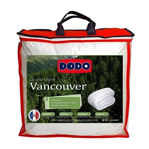 Dodo Couette légere Vancouver - 240 x 260 cm - Blanc