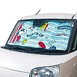 ボンフォーム サンシェード スヌーピー スヌーピーサーフ 軽/普通車 サンシェード UVカット 60x130x0.9cm ブルー 7563-01LBL