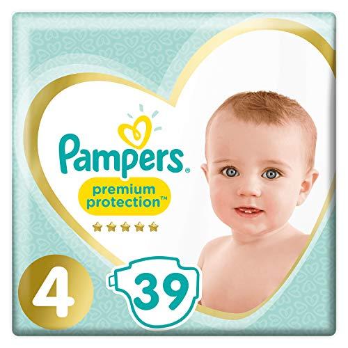 Pampers New Baby Premium Protection 4 39pieza(s) - Pañal (Universal, Pañal desechable, Verde, Amarillo, Velcro, Bolsa de plástico)